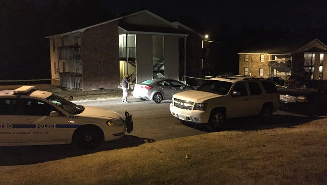 Officers respond to a shooting in Hermitage on Wednesday, Nov. 9, 2016.