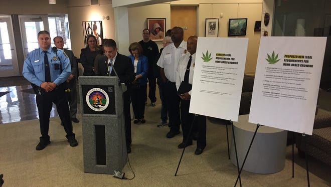 Lansing Mayor Virg Bernero, other city officials and neighborhood leaders discussed Thursday a new proposed medical marijuana ordinance. The news conference was held at the Neighborhood Empowerment Center.