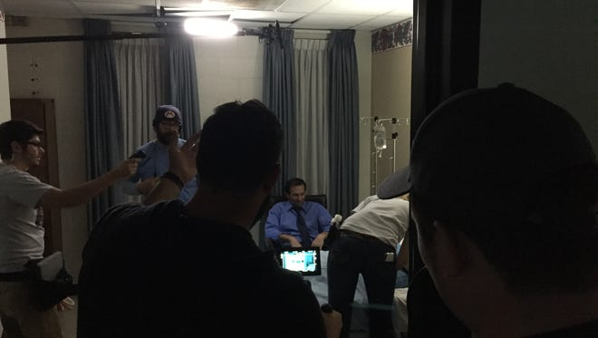 Scenes for the upcoming film 'Submission' were filmed in a former hospital in Greenville. Nov. 10, 2016