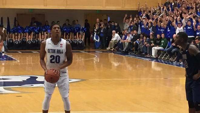 Seton Hall's Desi Rodriguez squares up for a free throw vs. FDU. The Pirates are hitting just 60 percent from the line this season.
