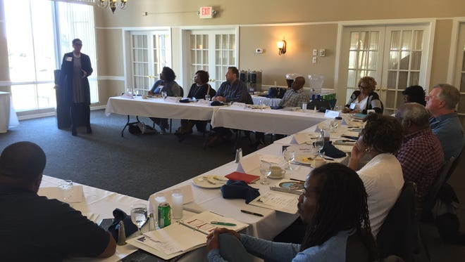 """Members of City Council, present and future, gathered on Nov. 12 for a """"retreat"""" to get to know each other and learn about council duties."""