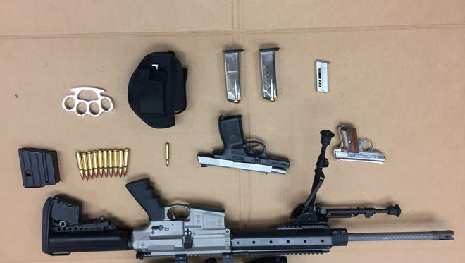 Oxnard police discovered a high-powered rifle among other weapons after a traffic stop on Nov. 14.