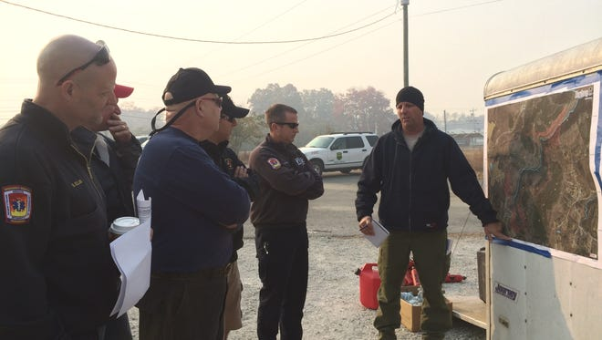 Firefighters with Brentwood Fire and Rescue traveled to East Tennessee on Sunday, Nov. 13, 2016, to help crews fight recent wildfires.