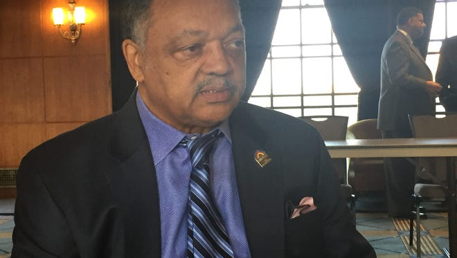 The Rev. Jesse Jackson is at the University of Michigan for a daylong celebration of his long career as a civil rights activist Wednesday, Nov. 16, 2016.