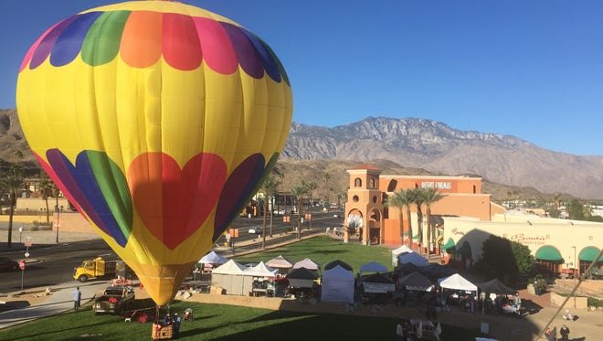 Cathedral City's Hot Air Balloon Festival features hot air balloon competitions, tethered rides and a sunset dinner Nov. 18 to 20.
