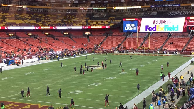 FedEx Field before the Green Bay takes on Washington.