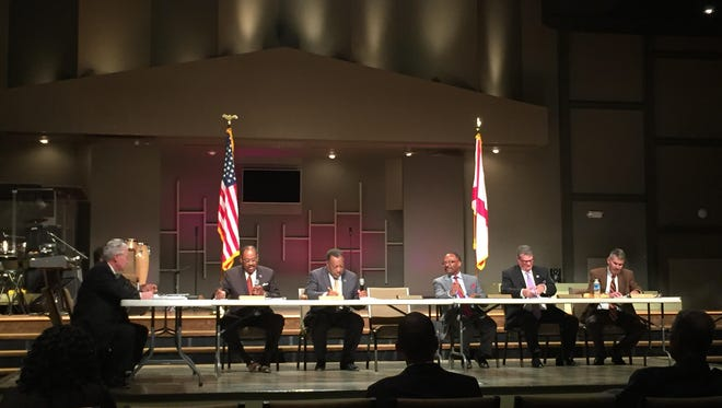 The County Commission held its November 21 meeting at the Fresh Anointing House of Worship as part of showcasing each commissioner's district. The Fresh Anointing House of Worship, is located in District 2, which is represented by chairman Elton Dean.