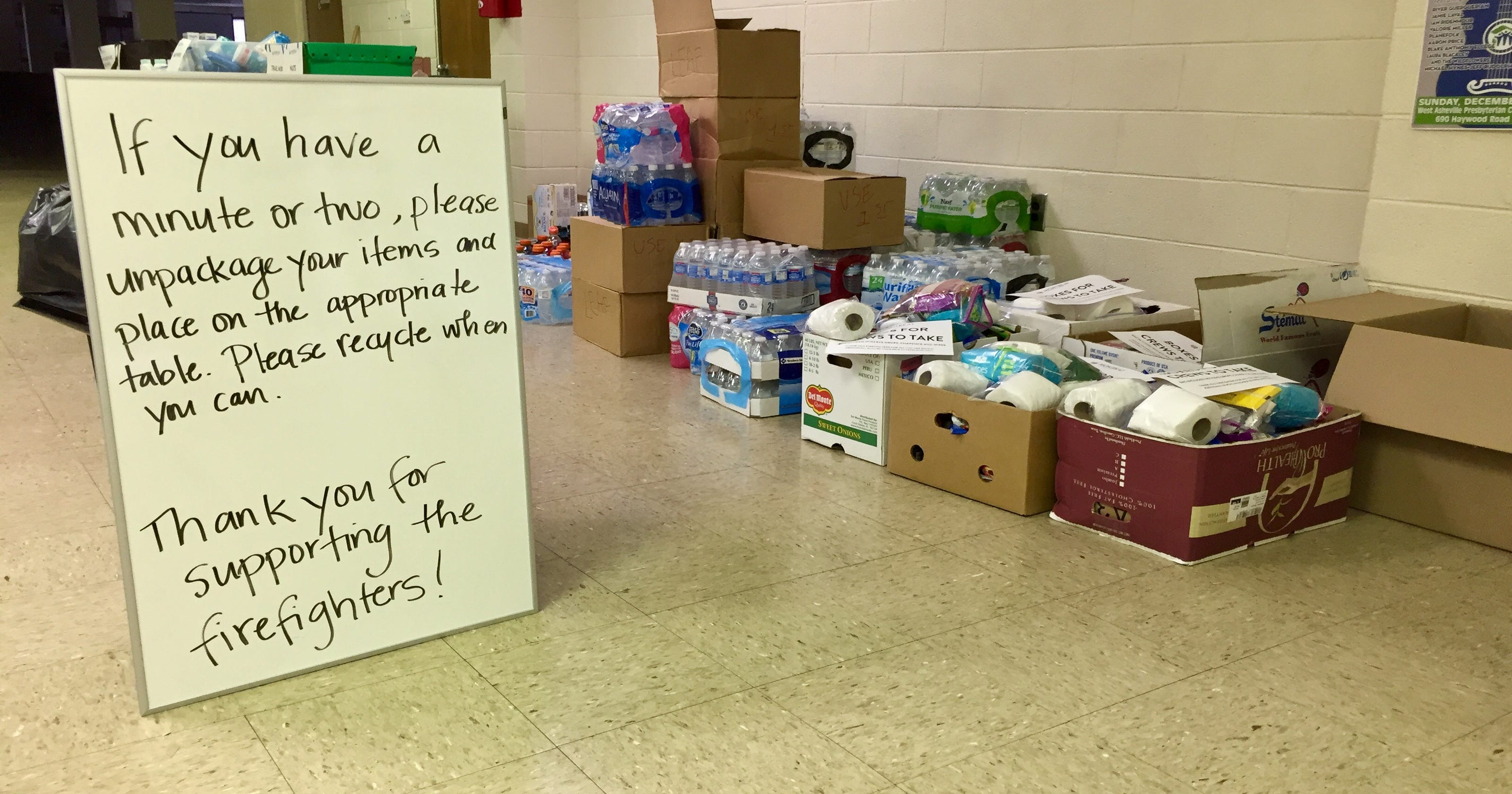 1f93e61f849a Firefighters 'overwhelmed' by community support in Montreat