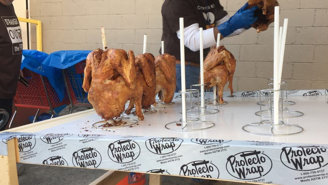 About 500 turkeys will be friend over the course of one day at Miracle Hill in Spartanburg. They will help provide Thanksgiving meals for thousands of people in need in the Upstate. Nov. 22, 2016