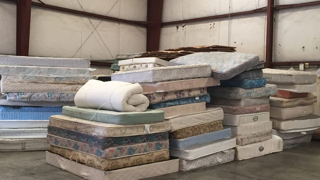 In its Billings warehouse, BedHead breaks down about 500 mattresses per month in order to recycle raw materials like wood or cotton that otherwise would end up as landfill.