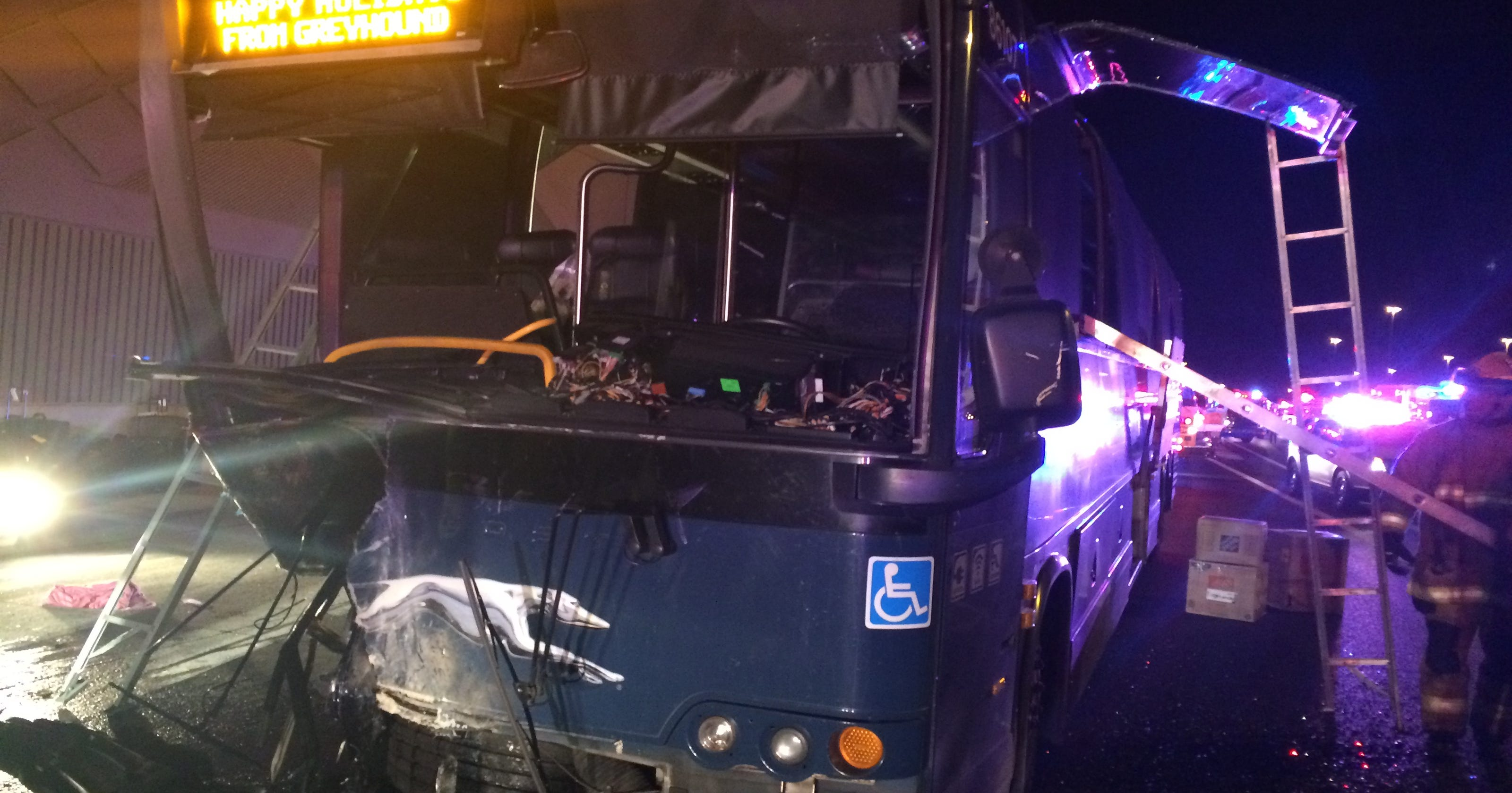 Wrong-way driver crashes into bus after Thanksgiving