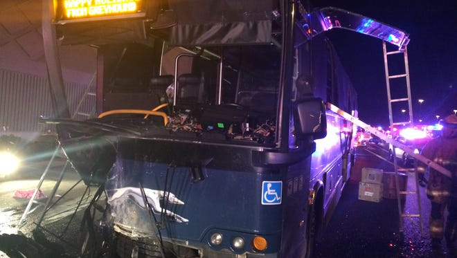 A wrong-way driver collided with a tour bus on Interstate 10 in Goodyear early Friday,