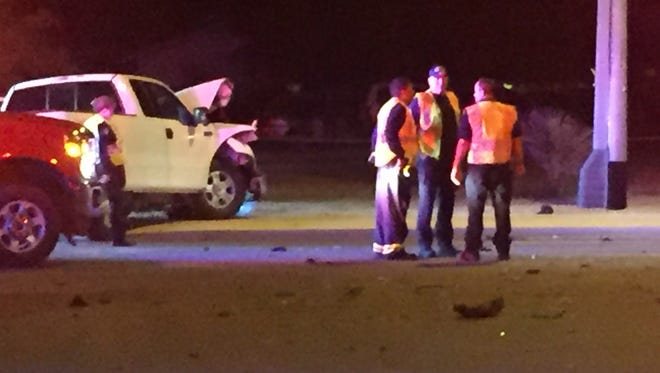 Five children and two adults were injured in a crash in Peoria.