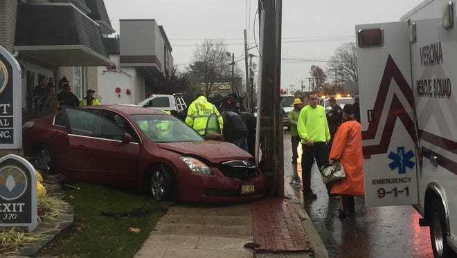 The Verona Rescue Squad responds to a car accident on Bloomfield Avenue Tuesday morning, Nov. 29, 2016.