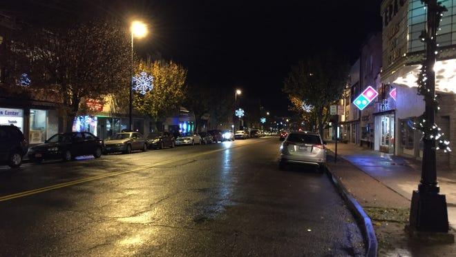 Fourteen snowflake lights now line Washington Avenue in Endicott for the holiday season.