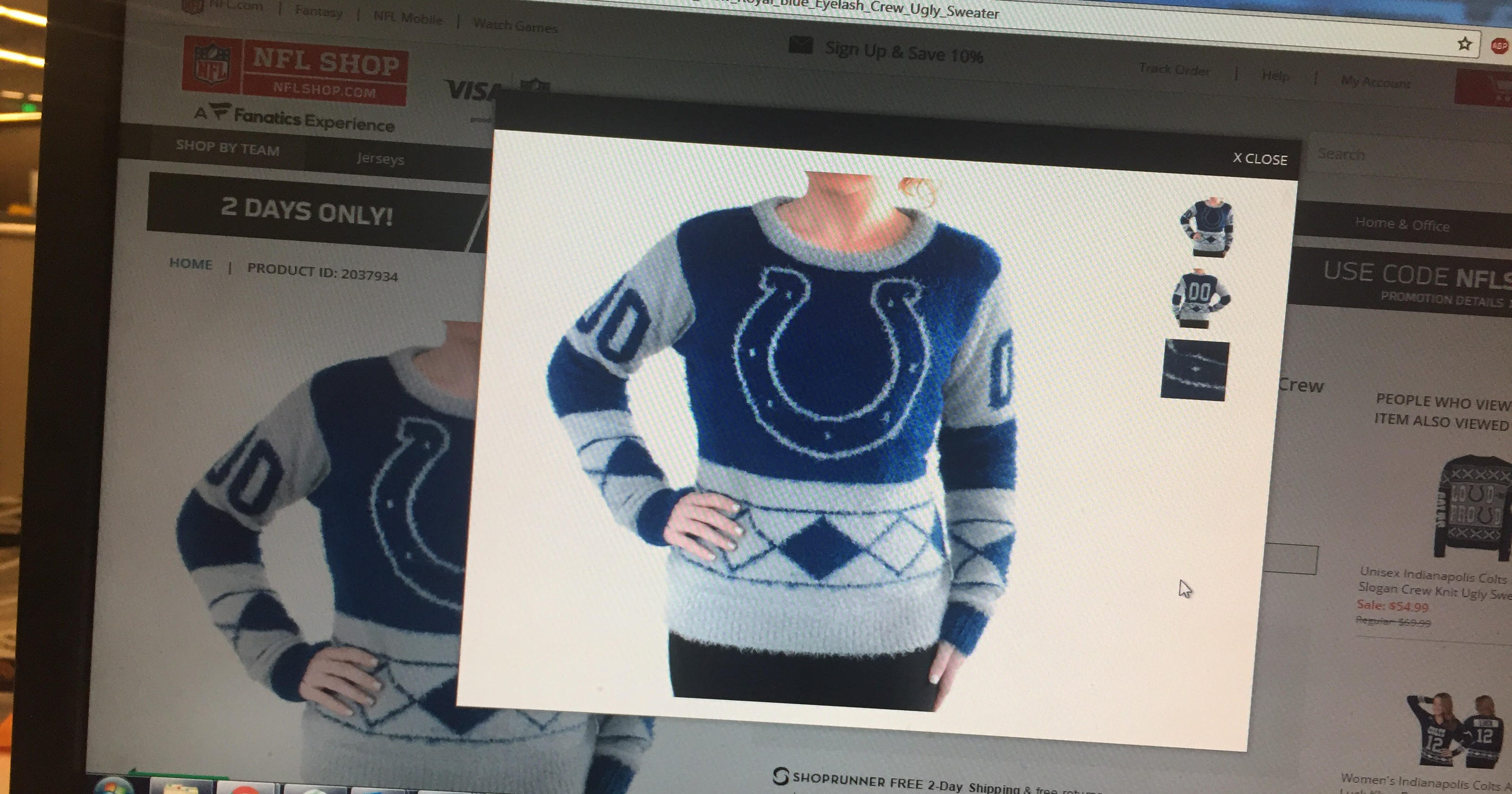Colts, Pacers offer ugly Christmas sweaters (and they are ug-lee)