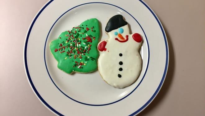 Sugar cookies from Bread Garden Market on Dec. 1, 2016.