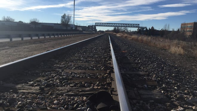 A man was struck and killed by a train in Fort Collins on the west side of Creekside Park on Sunday.