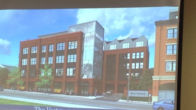A rendering of The Vestry is presented at a Montclair Planning Board hearing on Dec. 5, 2016.