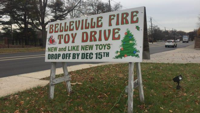 The Belleville Fire Department's annual toy drive runs through Dec. 15.