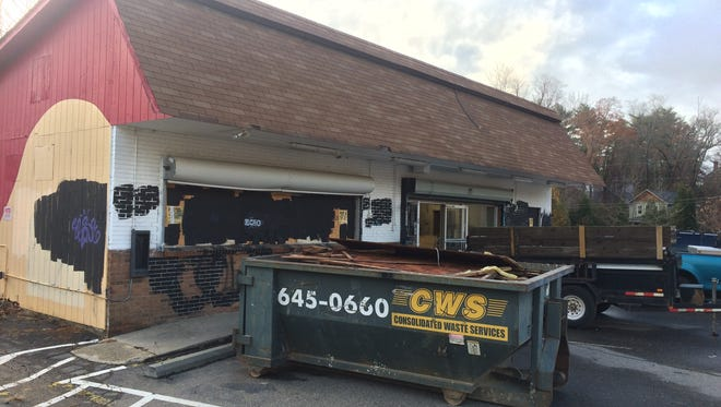 This former gas station and mini-mart on Broadway in north Asheville is going to be redeveloped, possibly as a restaurant or other commercial use.