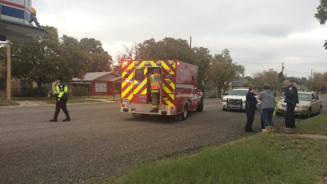A man was hit by a car outside his home.