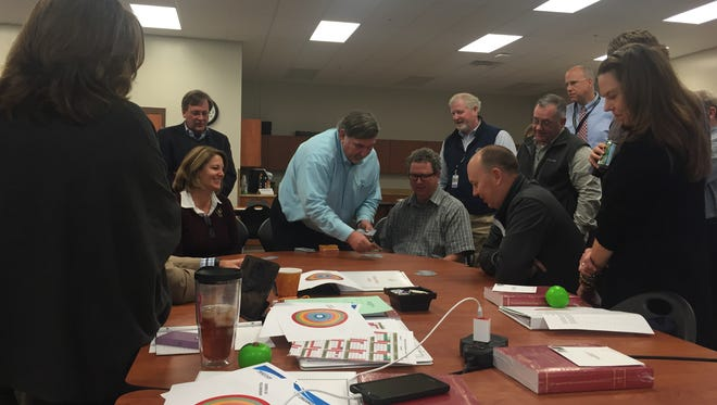 Williamson County school board members kicked off their annual retreat with team building activities, but quickly transitioned to discussions on rezoning, growth and strategic goals.