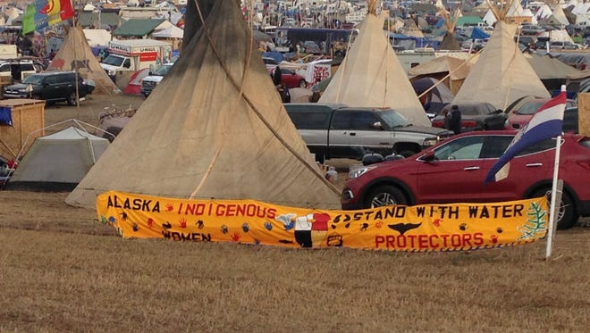 Fond du Lac artist Rose Hardee captured images of the Standing Rock encampment during a Thanksgiving visit to the pipeline protests in North Dakota.