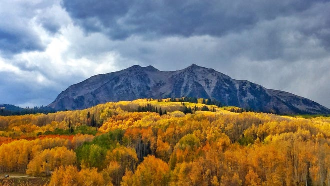 Mary Liss and her family recently visited Crested Butte to see the beautiful fall colors. Send your high-resolution  Photo of the Week submissions to StephenMeyers@ coloradoan.com or upload at Coloradoan.com/ share. Courtesy of Mary Liss