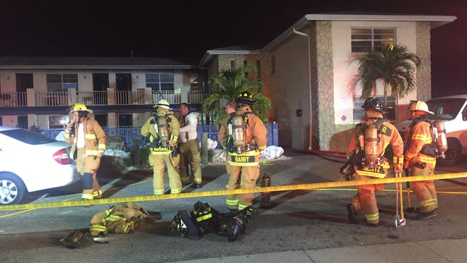 A fire was extinguished at the Parker House apartments in Cape Coral Thursday night.