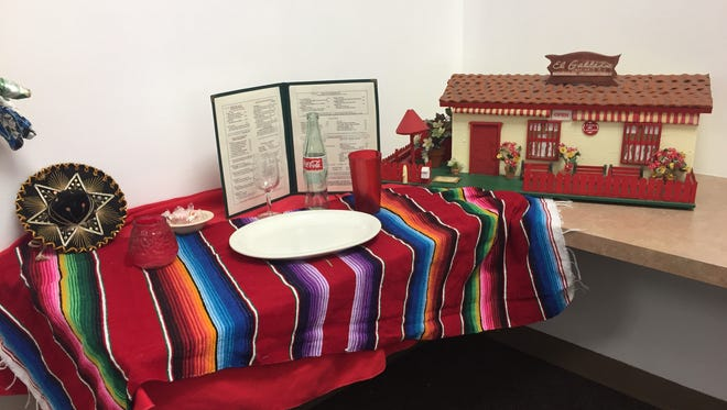 A section of the Cathedral City Historical Society exhibit showcased memorabilia from El Gallito restaurant, which closed in 2016.