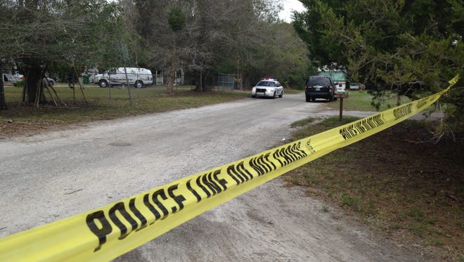 A 74-year-old mother is dead and her son is hospitalized after a homicide Saturday afternoon at a White City home, according to the St. Lucie County Sheriff's Office. Police still were looking for a suspect Sunday.