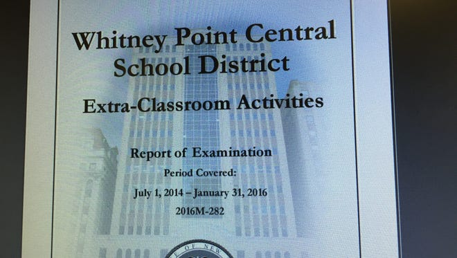 The New York State Comptroller's Office issued a report Wednesday stating some Whitney Point Middle School faculty members had improperly handled extra-curricular funds.