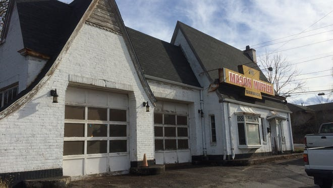 Mason Muffler at 268 Haywood Road has a premium location but no immediate plans to sell.