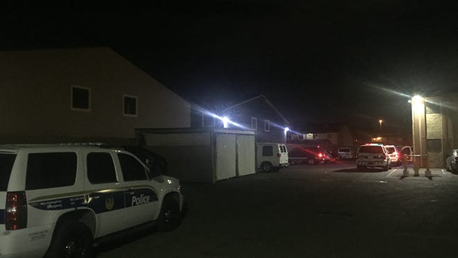Police are investigating a shooting that left a man in serious condition at this apartment complex near Interstate 17 and Indian School Road on Dec. 14, 2016.