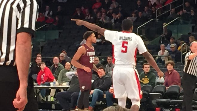 Mike Williams points the way against Fordham.