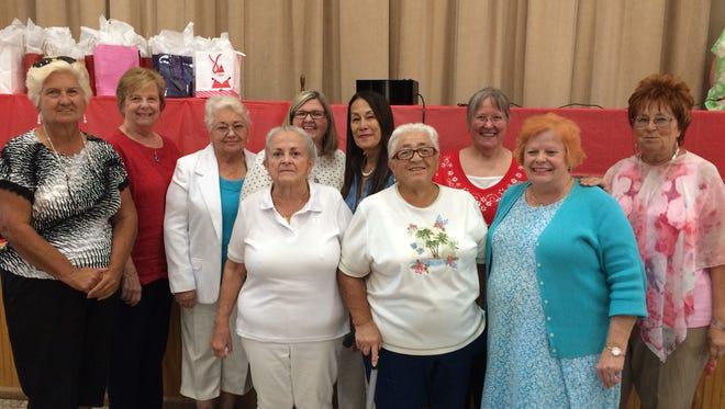 Dolly's Red Dragons: Beth Gillette, Linda Teske, Barbara Randolph, Teri Potts, Freda Egan Sedore, Margaret Gergen, Sharon Sebring, Dolly Worn-Tintor, Elana Bowden & Gale Campbell