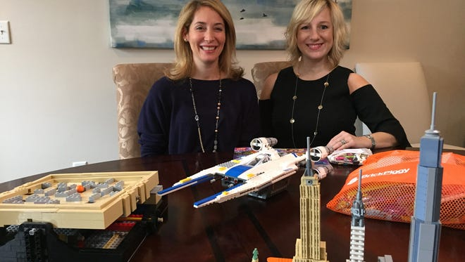 Julia Giordano, left, of Chatham Township and Gretchen Cotnoir of Morris Township have teamed up to cofound Brick Piggy, subscription service offering rentals of popular Lego building sets.