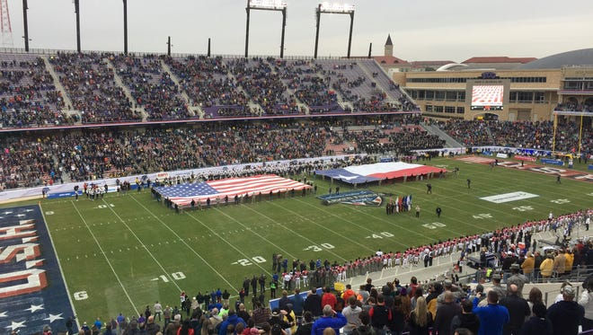 Louisiana Tech and Navy square off in the Armed Forces Bowl in Fort Worth, Texas.