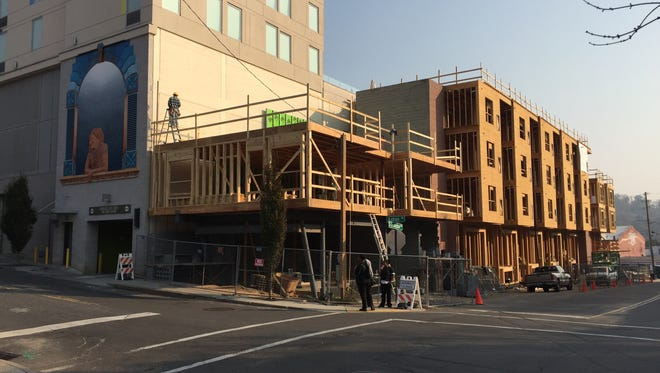 The Garage Apartments at 56 S. Lexington Ave. downtown are one of 41 apartment projects proposed or under construction in Buncombe County as of November 2016.