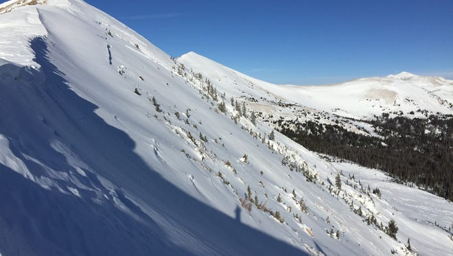 This is the avalanche area on South Diamond Peaks near Cameron Pass that occurred Dec. 24.