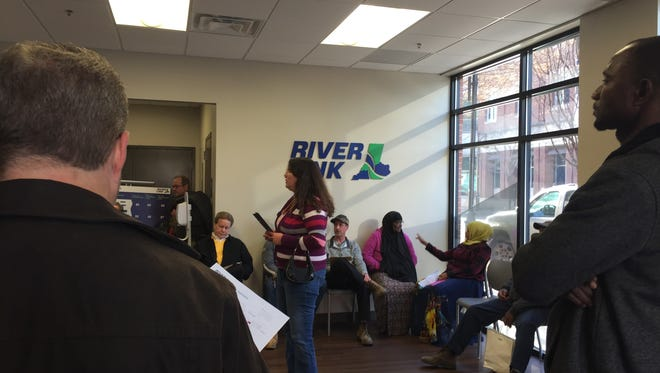 Waits for many at RiverLink's Louisville customer service center at 400 E. Main St. were up to an hour long.