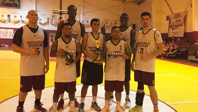 The Tamuning Typhoons defended their championship in the GTA 2016 Holiday TipOFF Tournament, beating the Toothfairies 78-65 at the Tamuning gym Friday.