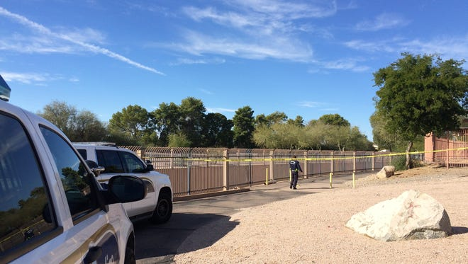 Phoenix police responded to the scene of a shooting along the Arizona Canal on Dec. 30, 2016.