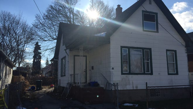 House at Dale St., Rochester where it was reported a woman emerged from on fire Sunday, 01012017.