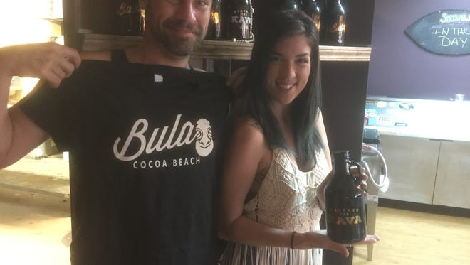 Jamie Moffatt (left), general manager at Bula Cocoa Beach; with employee, Courtnee Meier.  Bula, which specializes in kava drinks, coffee and teas, opened late last year in Cocoa Beach.