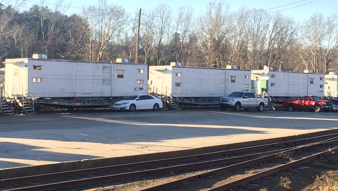 Norfolk Southern uses housing rail cars for employees who are working on weeks-long projects, including a recent job in Asheville.
