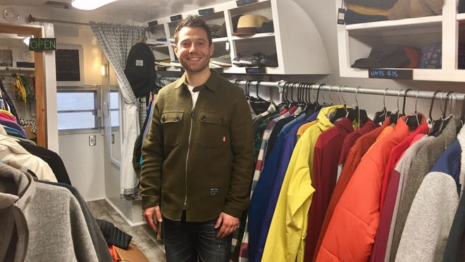 David Kopelman created Northville Apparel in a renovated Avion trailer that he parked in the River Arts District.
