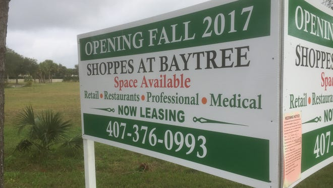 The developer of this property says the project for Shoppes at Baytree is a go.
