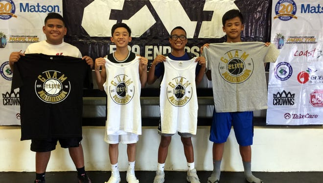 The Young Warrios won the U14 division at the Elite Center's 3-on-3 basketball tournament on Jan. 7. The tournament was run by the Guam Basketball Elite Academy. From left to right are: Mack Dois, Jacob Miranda, Jaen Paraliza and Elijah Garrido.